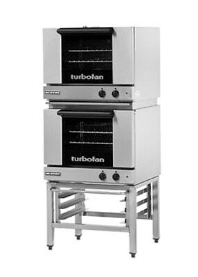 Moffat E22m32 Electric Dble Stack Convection Oven 3 Half Size Pan W Stand
