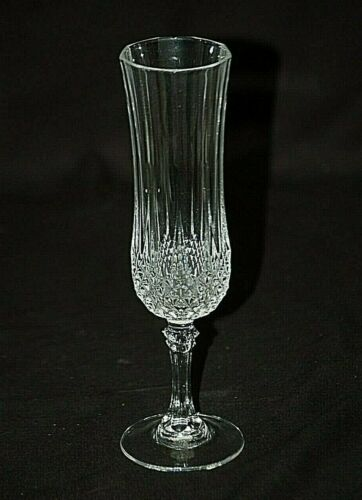 Old Vintage Lead Crystal Champagne Wine Flute w Diamond Ribbed Pattern
