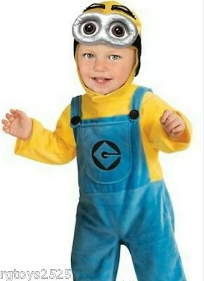 Despicable Me 2 MINION DAVE Costume Size 1-2 Years of age Infant Toddler T 2 3 4 - Infant Minion Costume Despicable Me