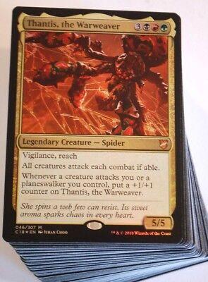 (***Custom Commander Deck*** Thantis the Warweaver EDH Magic Cards)