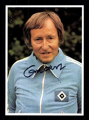 Rudi Gutendorf Autogrammkarte Hamburger SV Trainer 70er Jahre Original Signiert