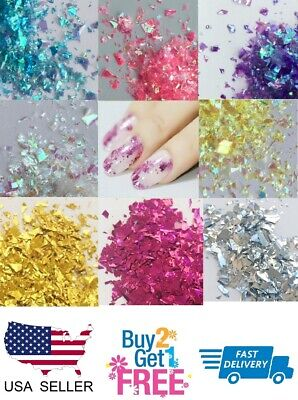 Irregular ✨ Holographic Glitter Multi Colors Nail Glitter Art Acrylic Gel