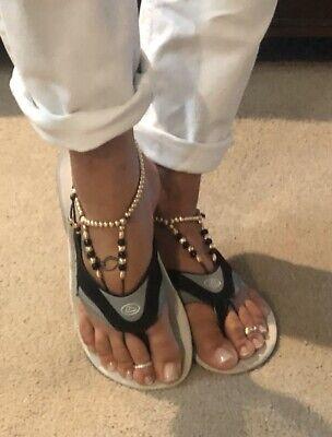 Karmlet 14kt Yellow Gold Filled Foot Thongs, Anklet, Mens Or Womens Beachwear