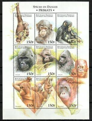 Comoro Stamp 903  - Primates