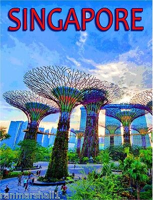 Singapore Marine Dream Southeast Asia Asian Travel Advertisement Art Poster