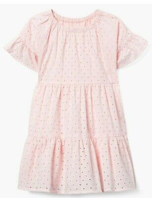 NWT Gymboree Pink Eyelet Spring Summer Easter Dressy Dress Girls size m 7 8 - Girls Easter Dresses Size 8