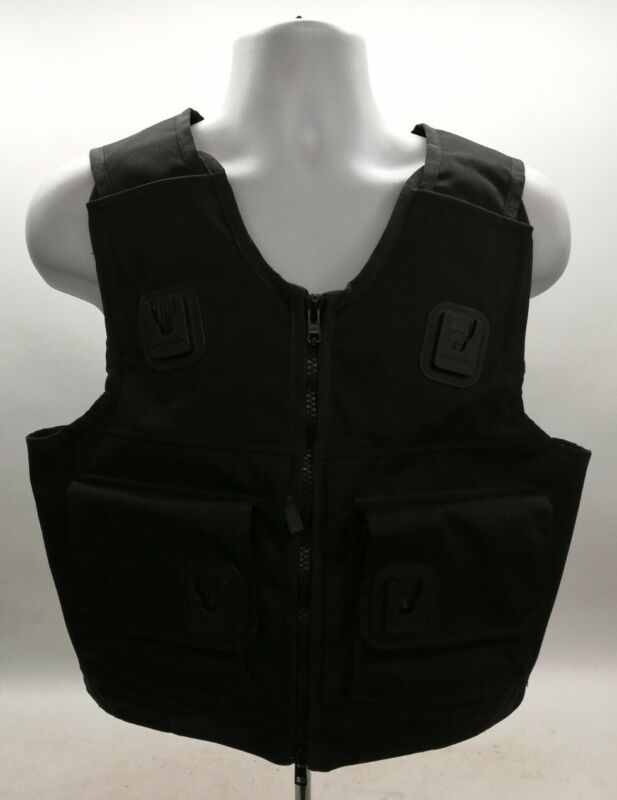 Genuine Ex Police Cooneen Body Armour Cover Black Security Patrol Uniform Safety