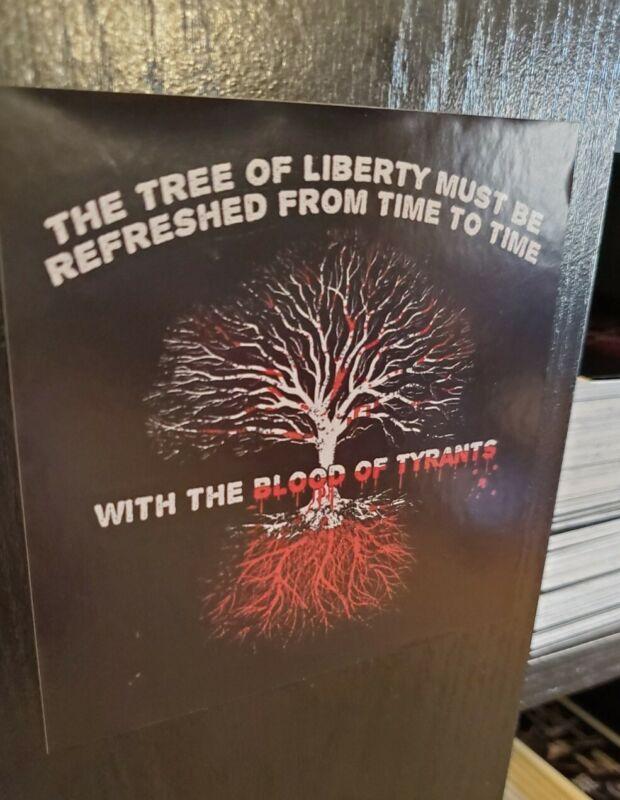 Tree 🌳 Of Liberty Thomas Jefferson Political Bumper Sticker GREAT RESET 4 inch