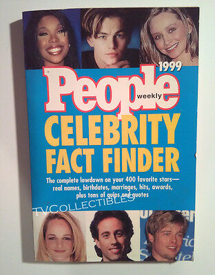 Book  People Weekly  1999 Celebrity Fact Finder  Leonardo Dicaprio  Brad Pitt