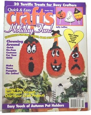 Quick & Easy Crafts - October 1995 - Halloween Pumpkins, Ghosts, Black Cats - Quick Halloween Crafts