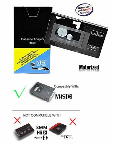 Motorized VHS-C To VHS Cassette Adapter for JVC RCA Panasonic