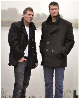 NEU US NAVY Pea Coat, Marine Wolle Mantel schwarz und dunkel-blau, Gr. XS-5XL Navy Pea Coat