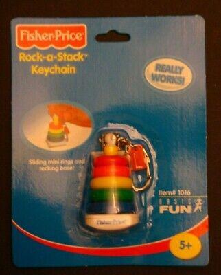 Rare FISHER-PRICE ROCK-A-STACK Vintage/Nostalgic Miniature Toy Keychain NIP
