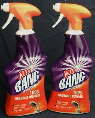 TWO x Cillit Bang Power Cleaner 100% Limescale Remover Foam Spray Sinks...