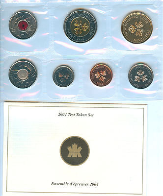 "2004 CANADA TEST TOKEN COIN SET ""THE POPPY"""