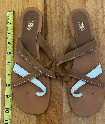 Vintage Gucci Sandals, Brown & White, Size 39