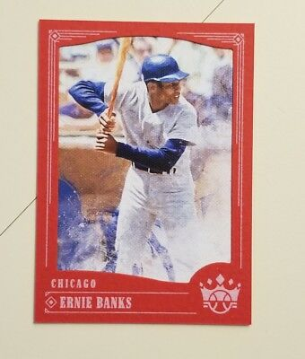 ERNIE BANKS 2018 DIAMOND KINGS RED FRAMED BORDER CUBS