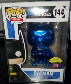 Pop vinyl  blue chrome batman