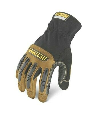 Ironclad Ranchworx Genuine Leather Work Gloves Medium Washable
