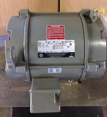 New U.s. Electrical Motors 7.5 Hp 3-phase 1740 Rpm Electric Motor