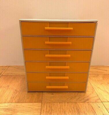 Vintage Joe Colombo-style Orangetan Plastic Stacking Modular Drawers Set Of 6