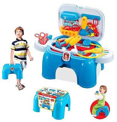 Doktor Set Doktorkoffer koffer  Sitzhocker Hocker  tragbar Arztkoffer 12-teilig
