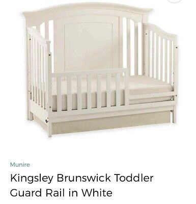 Munire Furniture Kingsley Brunswick Toddler Guardrail White. 3875. New