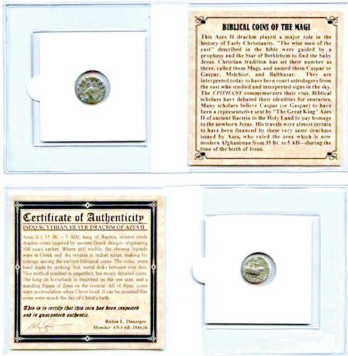 ANCIENT Biblical Coin of The Magi,SILVER,35 BC-5 AD,& Mini Album, Certificate