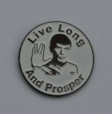 Star Trek Spock Live Long And Prosper Quality Enamel Pin Badge