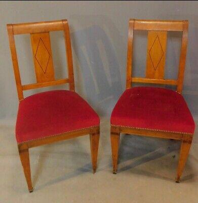 19th Century VGC Red Beidermeir Chairs