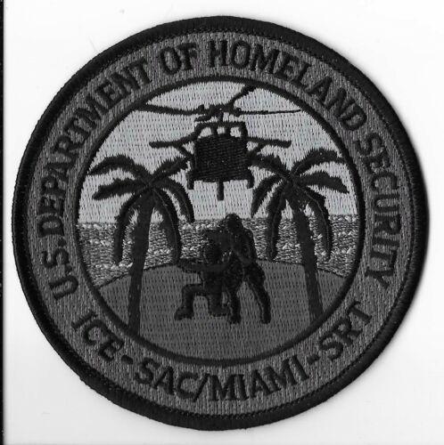 US Homeland ICE-SAC/Miami-SRT Police Patch V2