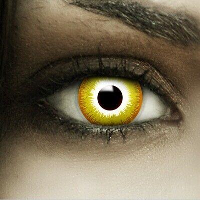 Farbige Halloween Kontaktlinsen Avatar gelb gelbe ohne Stärke - Avatar Kontaktlinsen