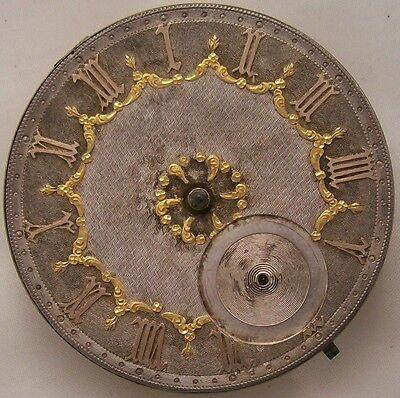 Old Pocket Watch movement & Beautiful dial key wind 45,5 mm. in diameter