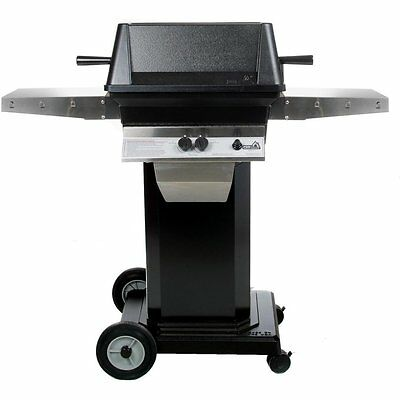 PGS A40 Cast Aluminum Natural Gas Grill on Black Portable Pe