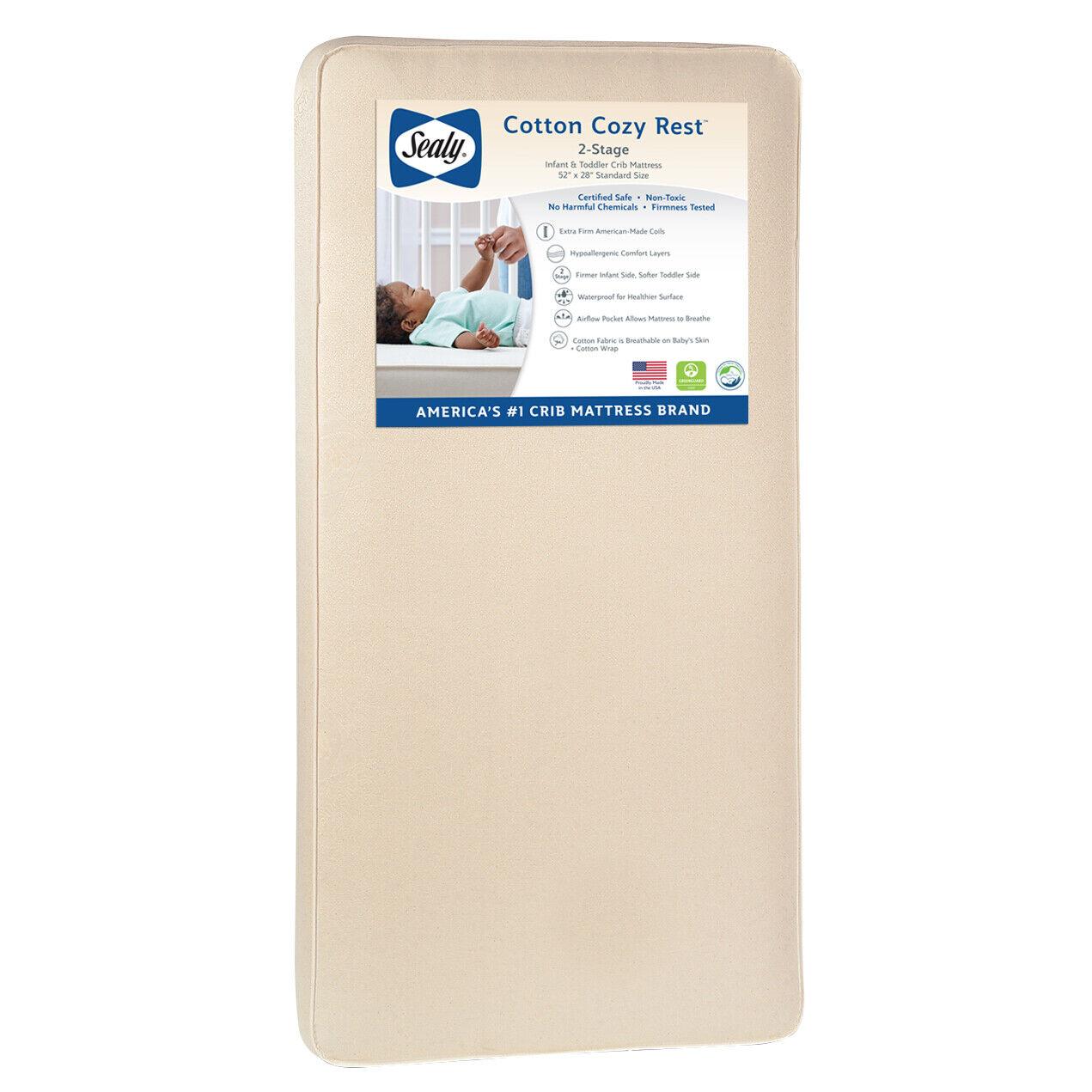 Cotton Cozy Rest 2-Stage 5.5 Crib Mattress