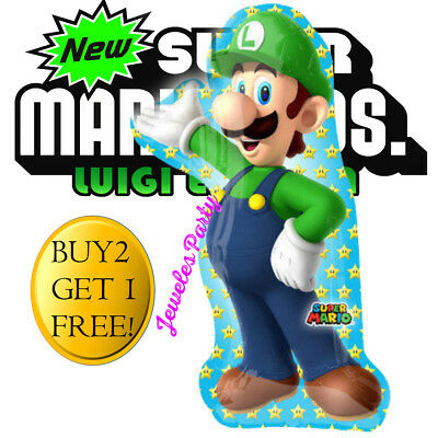 Super Mario Balloons (GIANT SUPER LUIGI MARIO 26' Birthday Party Balloon Balloons Supplies Decoration)