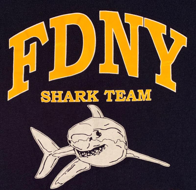 FDNY NYC Fire Department New York City T- Shirt Sz L Engine 5 Manhattan