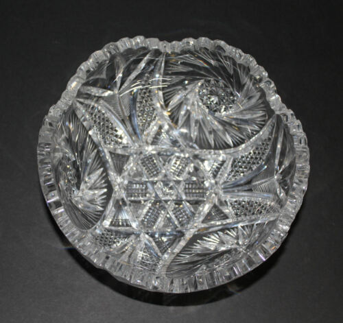 Antique American Brilliant Period cut glass fruit Bowl