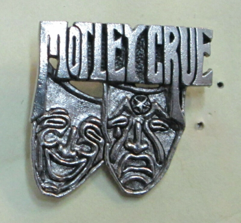 MOTLEY CRUE VINTAGE METAL LAPEL PIN NEW FROM LATE 80