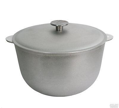 4.8 Qt Aluminum Cooking Pot with Lid Casserole for Stews Pilaf Lagman Soup