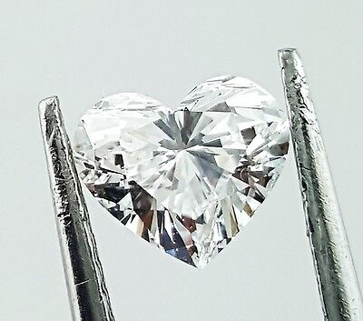 Natural Loose Diamond 0.75 CT E Color SI1 Clarity GIA Certified Heart Cut