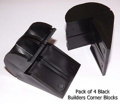 SET 4 BRICKIES BRICK LINE BLOCK. OLDSCHOOL PLASTIC L SHAPED CORNER LAYING BLOCKS