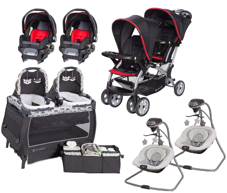 Tandem Double Stroller Elite Twins Nursery Center Baby Swing