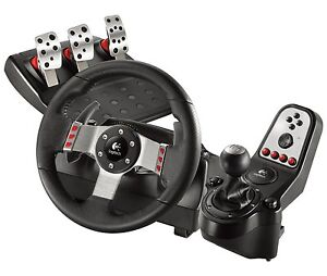Logitech G27 Racing wheel H-shifter and pedals