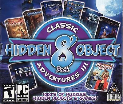 Computer Games - Classic Hidden Object Adventures III PC Games Windows 10 8 7 XP Computer mystery
