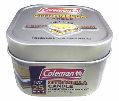 Coleman Scented Citronella Candle, S'mores Scent with Wooden