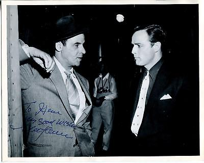 (MARC LAWRENCE GANGSTER / TOUGH GUY / STAR TREK ACTOR SIGNED PHOTO AUTOGRAPH)