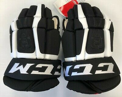 164003927cc New CCM Vibe Sr ice hockey gloves Black White 15