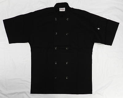 Chef Coat Jacket Uncommon Threads 415 Restaurant Uniform Ss Black M New