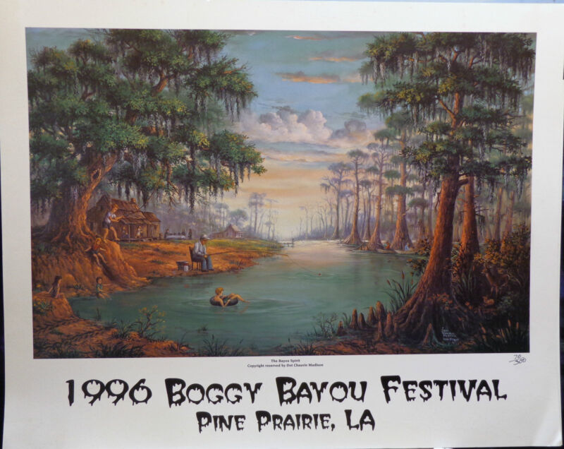 """The Bayou Spirit 97"", print used for the Boggy Bayou Festival in Louisiana"